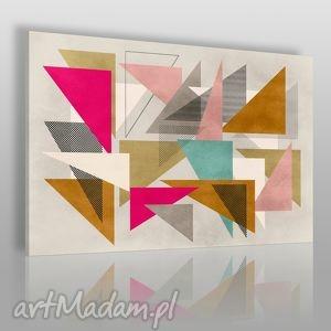 obraz na płótnie - abstrakcja geometria 120x80 cm 28901 , trójkąty, wzór
