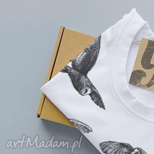 SOWY koszulka z nadrukiem, ptaki, animals, nadruk