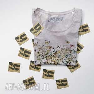 Prezent MOTYLE SERCE bluzeczka damska, bluzka, rekaw, dekolt, serce, motyle
