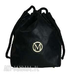 manzanatorebki manzana plecak-worek luźny styl czarna błysk, manzana, plecak, worek