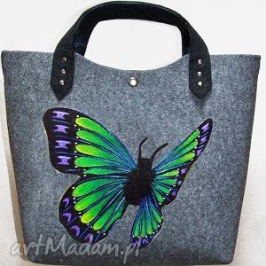 ruben art filcowa torba motyl 3, filc, torba, motyl, święta torebki, oryginalny