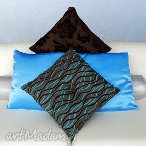 01-008g brązowa poduszka ozdobna 40x40 dekoracyjny jasiek sirius, dekoracyjne