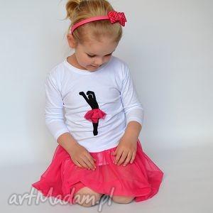 ubranka tiulowa baletnica amarant 3 4 rękaw, baletnica, tiul, elegancka dla dziecka