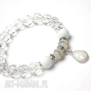 crystal 01-013-17 bransoletka, agaty, szkło, kryształki bransoletki biżuteria