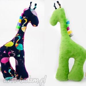 Żyrafka PAWIE zielony, żyrafka, przytulanka