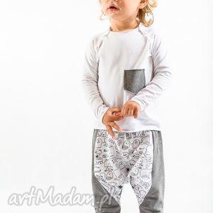 spodnie w duszki ze średnim szarym, bawełna, handmade, duszki, szare, wygoda, moda