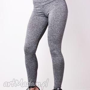 szare melanżowe modelujące legginsy damskie push up l, redmasterclothes
