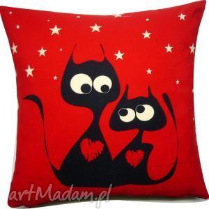 poduszka dla zakochanych, walentynki, koty, dom, świąteczny prezent