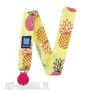 zawieszka do smoczka, ananasy - zawieszka, smoczek, tasiemka, ananasy, niemowlak
