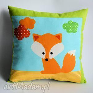 poduszka dziecięca - lisek spryciarz, poduszka, dziecko, lisek, dekoracja