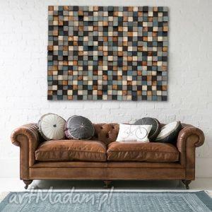 drewniana sciana mozaika na zamówienie, mozaika, obraz, płaskorzeźba