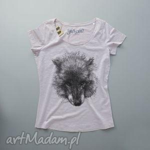 pod choinkę prezent, wilk koszulka damska, tshirt, damski, dekolt koszulki