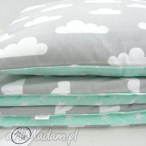 pokoik dziecka pościel 100x135 chmurki gwiazdki, pościel, dziecięca, łóżeczaka