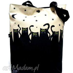 na ramię torba napę z kotami, torba, koty, pojemna, świąteczny prezent