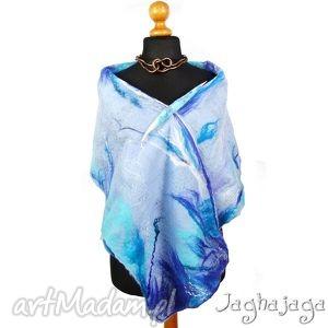 oryginalny prezent, jaghajaga niebo - szal filcowany, miękki, ciepły