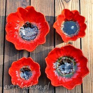 maki zestaw 2 ceramicznych mis, mak, kwiat, miska, ceramiczna, miseczka
