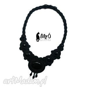 black lady- czarny naszyjnik soutache, sutasz, naszyjnik, biżuteria