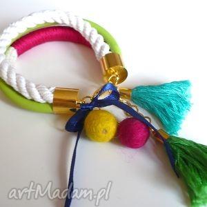 bransoletki viva la mexico , zawieszki, sznurek, kolorowa, zabawa, hel, pod choinkę