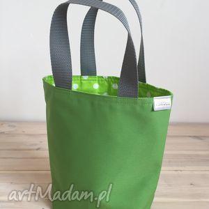 Prezent Zielony w grochy, śniadanie, lunch, prezent, box, pudełko, lunchbox