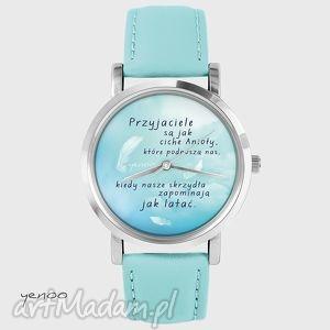 zegarek, bransoletka - przyjaciele turkusowy, skórzany, przyjaciel