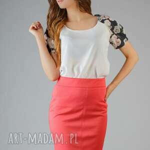 bluzki bluzka roma 4, kwiaty, lekka, elegancka, wygodna, modna, wstawka ubrania