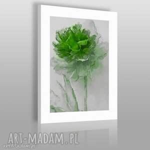obraz na płótnie - kwiat emeraldowy 50x70 cm 02005 , kwiat, obraz, artystyczny