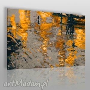 obrazy obraz na płótnie - abstrakcja odbicie 120x80 cm 06003 , odbicie, ulica