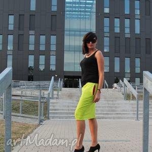 spódnice spódnica ołówkowa dresowa z kieszeniami midi kolory, spódnica