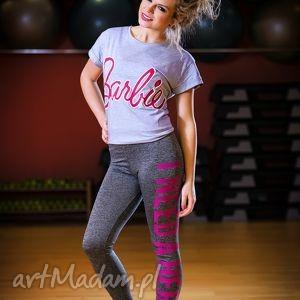 sportowe legginsy rurki dopasowane z napisem nadrukiem, redmasterclothes, oryginalne