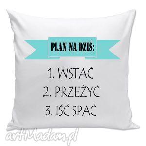 poduszki poduszka - plan na dziś, plan, prezent, poduszka, śpioch, leń, święta