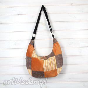 godeco hobo pomarańcz, pojemna, hobo, listonoszka, kolorowa, patchwork torebki