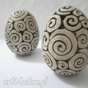 Ceramiczne jajka, wielkanocne, wielkanoc, ceramiczne, jaja, komplet