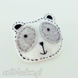 filcowa broszka panda ula - panda, broszka, filcowa, filc