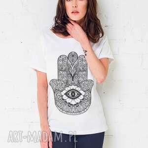 koszulki hamsa oversize t-shirt, oversize, tshirt, biały, casual, moda, bawełna