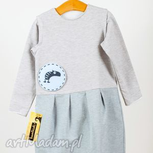 bawelniaki sukienka odcinana kolorowy dół bawełniaka z 3 wymiennymi aplikacjami