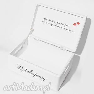 księgi gości ślubne pudełko na koperty kopertówka personalizowane napis dziękujemy