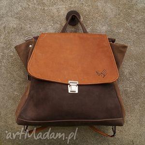 ach ludwiko plecak torba ciepłe brązy, plecak, torba, beż, nubuk, zamsz, kobiecy