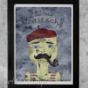 moustache plakat 30x40 - moustache