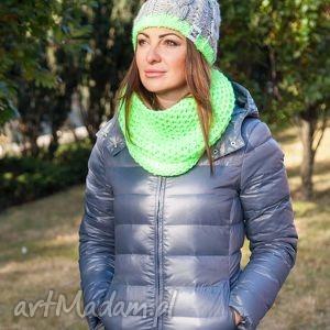 My Choice! Neony, jesień, zima, czapka, włóczka, handmade