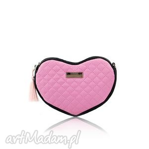 torebka lovka 115, serce, pikowana, mini, elegancka,