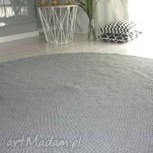 dywan bawełniany 150 cm, dywan, scandi, szary, bawełniany, sznurek, sznurkowy