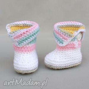 Kozaczki Burnaby , buciki, kozaczki, dziecko, niemowlę, wełniane, ciepłe