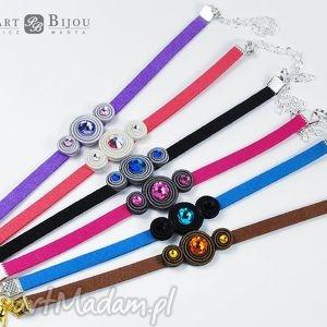 bransoletka sutasz swarovski - kolory, bransoletka, sutasz, rzemień