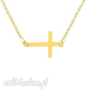 naszyjniki celebrate - cross necklace g, krzyż, celebrytka, srebro