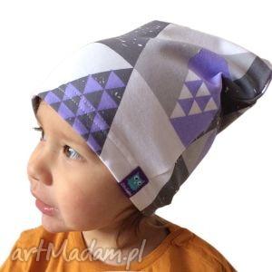 czapka bawełniana, mozaika, 2 rozmiary, czapka, dresówka, bawełna, dziecko