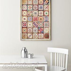 Mozaika A3, mozaika, plakat, rysunek, wzory