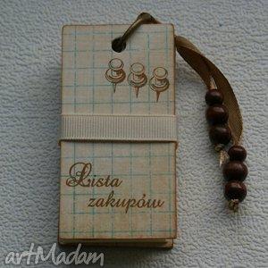 lista na zakupy- back to school, lista, notes, zakupy, podarunek, zapiśnik