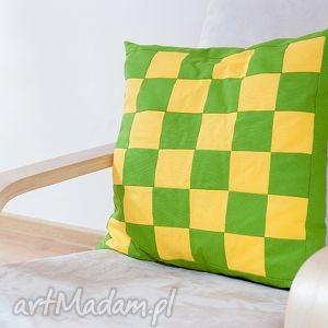 poduszka baweniana-szachownica, poduszka, bawelna, dekoracyjna, wygodna, szachownica