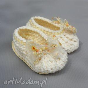 buciki zamówienie p emilii, baleriny, buciki, bawełna, niemowlę, dziewczynka