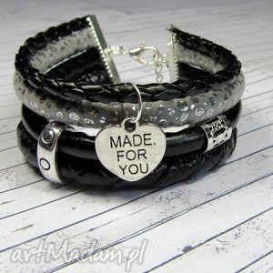 opis bransoletka rzemienie greyblack charms do wyboru, bransoletka, romantyczna, boho